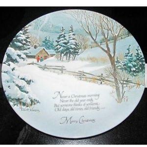 Winterscene 1975  Merry Christmas Porcelain Plate